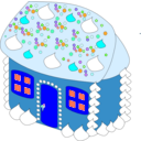 download Sweet House clipart image with 180 hue color