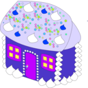 download Sweet House clipart image with 225 hue color