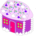 download Sweet House clipart image with 270 hue color