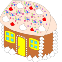 download Sweet House clipart image with 0 hue color