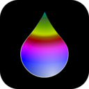 download Rainbow Drop clipart image with 225 hue color