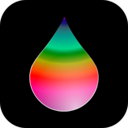 download Rainbow Drop clipart image with 315 hue color