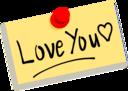 Thumbtack Note Love You