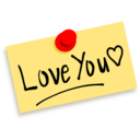 Thumbtack Note Love You