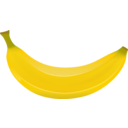 download Banana clipart image with 0 hue color