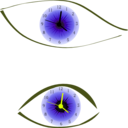 download Clock Eye clipart image with 45 hue color