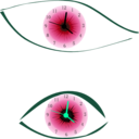 download Clock Eye clipart image with 135 hue color