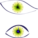 download Clock Eye clipart image with 225 hue color