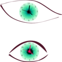 download Clock Eye clipart image with 315 hue color