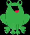 Smile Green Frog