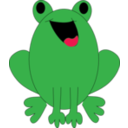 Smile Green Frog