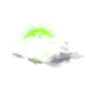 download Weather Icon Cloudy clipart image with 45 hue color