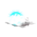 download Weather Icon Cloudy clipart image with 135 hue color