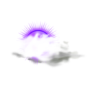 download Weather Icon Cloudy clipart image with 225 hue color