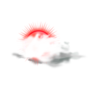 download Weather Icon Cloudy clipart image with 315 hue color