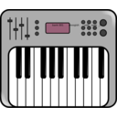 download Synth clipart image with 225 hue color