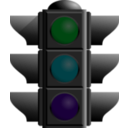 download Traffic Lights Turned Off clipart image with 135 hue color