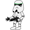 download Comic Characters Stormtrooper clipart image with 135 hue color