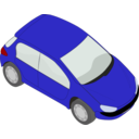 download Peugeot 206 Blue clipart image with 0 hue color