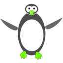 download Tux clipart image with 45 hue color