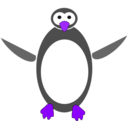 download Tux clipart image with 225 hue color