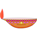 download Diwali Lamp clipart image with 315 hue color
