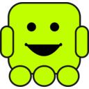 download Friendly Robot clipart image with 315 hue color