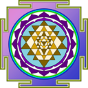 download Sri Yantra clipart image with 45 hue color