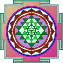 download Sri Yantra clipart image with 135 hue color