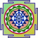 download Sri Yantra clipart image with 225 hue color