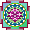 download Sri Yantra clipart image with 315 hue color