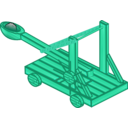 download Catapult clipart image with 135 hue color