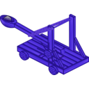 download Catapult clipart image with 225 hue color
