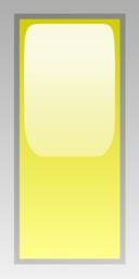 Led Rectangular V Yellow