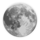 download Weather Icon Full Moon clipart image with 315 hue color