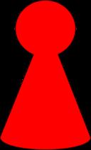 Ludo Piece Scarlett Red