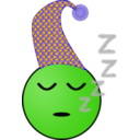 download Sleepy Smiley clipart image with 45 hue color