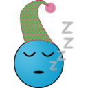 download Sleepy Smiley clipart image with 135 hue color