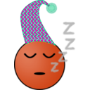 download Sleepy Smiley clipart image with 315 hue color