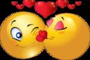 Kissing Couple Smiley Emoticon