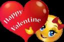 Valentine Girl Smiley Emoticon