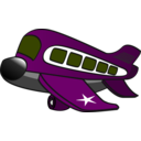 download Funny Military Airplane clipart image with 225 hue color