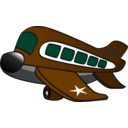 download Funny Military Airplane clipart image with 315 hue color
