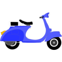 download Vespa 1957 clipart image with 45 hue color