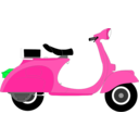 download Vespa 1957 clipart image with 135 hue color