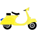 download Vespa 1957 clipart image with 225 hue color