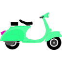 download Vespa 1957 clipart image with 315 hue color