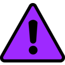 download Warning Icon clipart image with 225 hue color