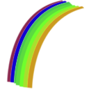 download Rainbow clipart image with 45 hue color