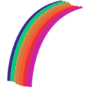 download Rainbow clipart image with 315 hue color